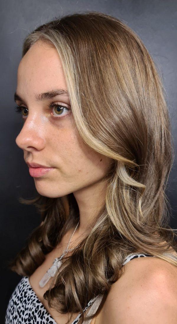 Zig Zag Hair Design - Female Blonde Blend Hair