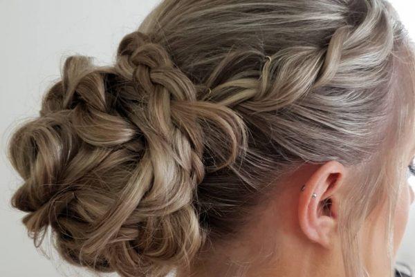 Zig Zag Hair Design - Wedding Blonde Hair Style