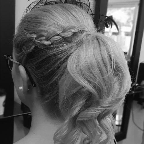 Zig Zag Hair Design - Blonde ladies cut
